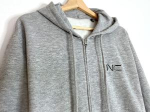 sweat-shirt-zipper-nunchaku-connect-gris
